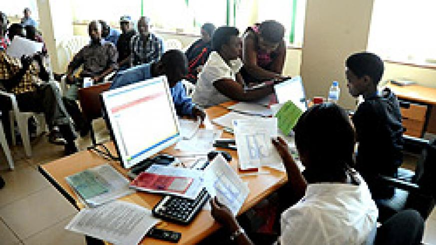 People register their businesses at RDB. The NewTimes/ File.