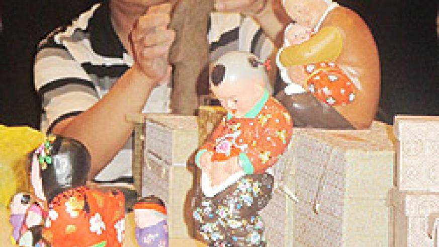 Wang Rum Lai 's finished products comprise of dolls and toys. (Photo. D umutesi)
