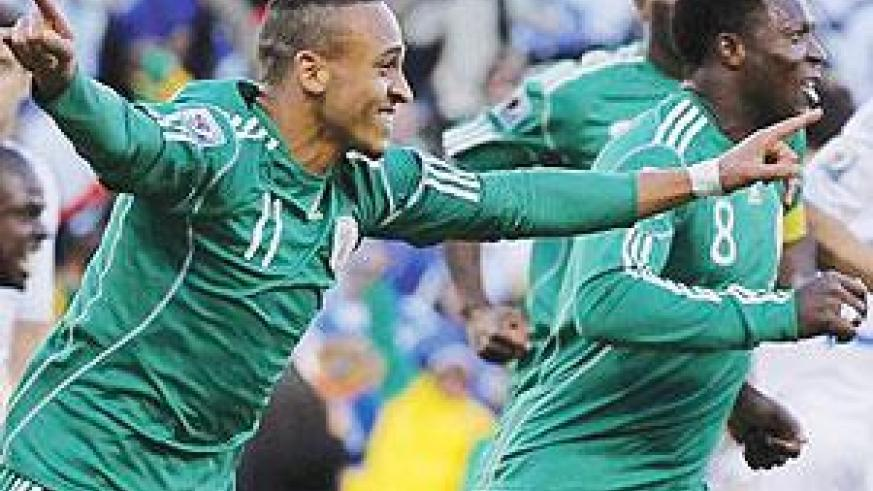 Peter Odemwingie (L) is one of the professionals in the Nigerian side