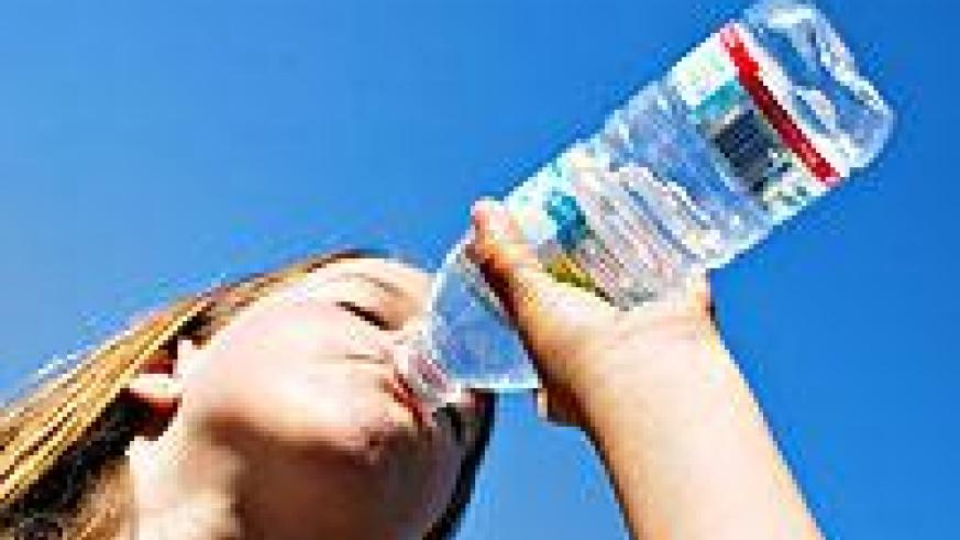 Drinking large amounts of water is very important in dealing with stress.  Net Photo