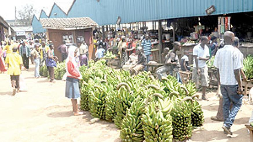 Vendors in Kimironko market. Global food prices are rising amid declining prices on the local market. The New Times / File.