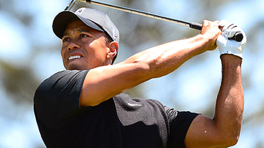Tiger Woods has won eight of nine majors in which he owned at least a share lead heading into the weekend. Net photo
