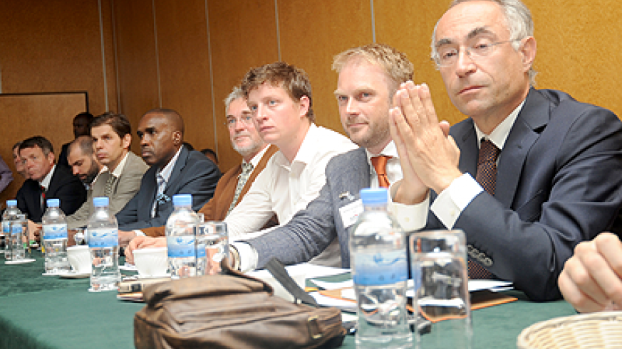 Dutch investors attend  a meeting which brought them together with RDB and PSF  in Kigali on Monday. The Sunday Times / File.
