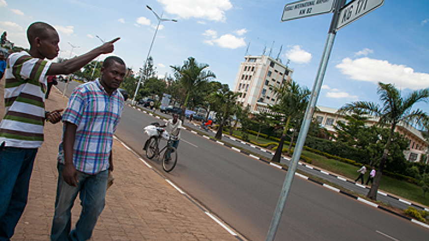 New street signs ease life in Kigali | The New Times | Rwanda on taipei city street map, denver city street map, kiev city street map, anchorage city street map, munich city street map, cape town city street map, kathmandu city street map, harare city street map, phoenix city street map, london city street map, atlanta city street map, paris city street map, jerusalem city street map, houston city street map, dayton city street map, chicago city street map, dallas city street map, toronto city street map, sydney city street map, djibouti city street map,