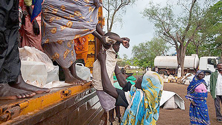 Refugees from Blue Nile state arrive at the Yusuf Batil Refugee camp from KM 18 camp, in Upper Nile State, South  Sudan, on June 22, 2012. Net Photo