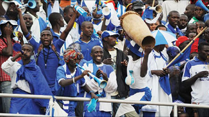 Rayon Sport have the largest fan base in the country but that has not stopped the club from financial crises every season. The New Times / File.