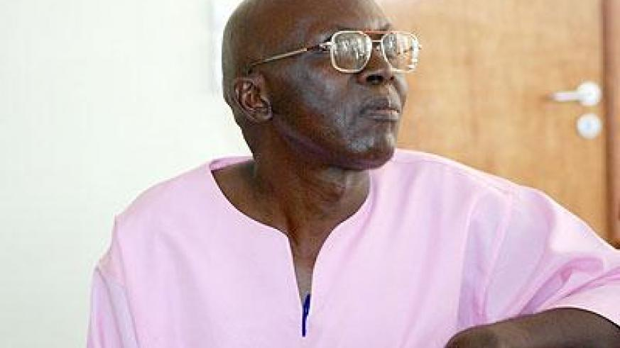 Leone Mugesera appeared in court this week in his long running trial. The Sunday Times/ Timothy Kisambira