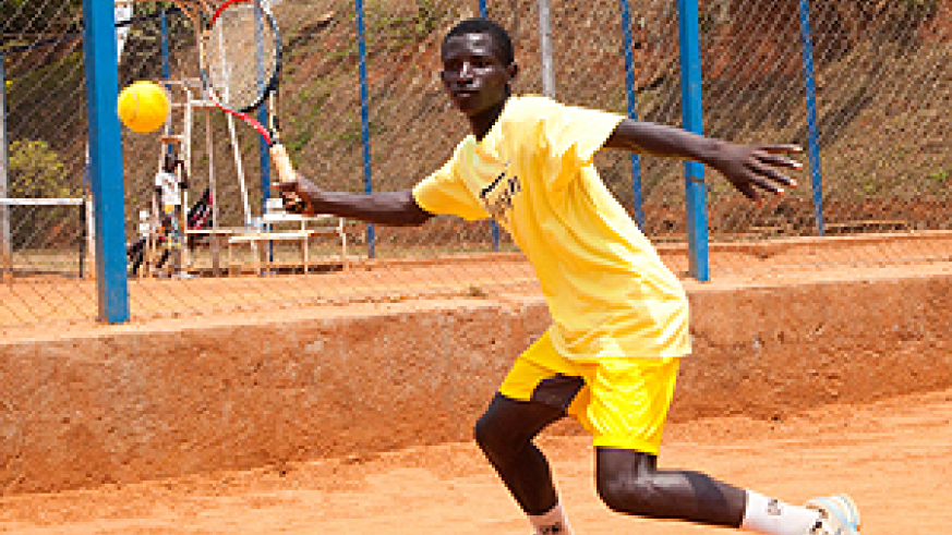 Ernest Habiyambere starts quest to win the ITF/CAT 14 & Under Kigali leg today. The Sunday Times / T. Kisambira.