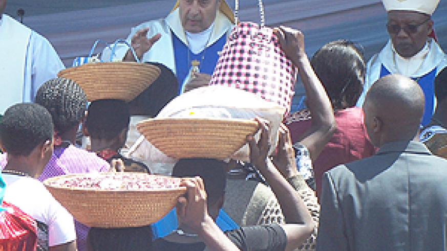 Thousands of Catholic faithful on Wednesday rallied at different places in the country to celebrate the assumption of Mary, the mother of Jesus Christ. The Sunday Times/ Timothy Kisambira