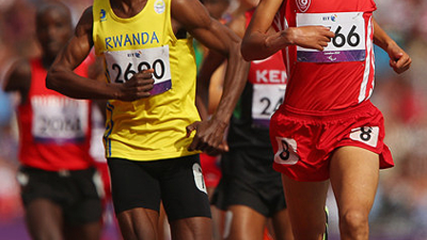 Hermas Muvunyi faced disqualification despite finishing third in the 800m T46 final yesterday in London