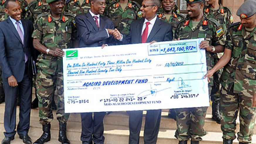 Armed forces make record contribution to Agaciro | The New