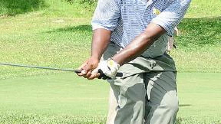Davis Kashaka has been named on the team for next week's East African Golf Challenge. The New Times / File.