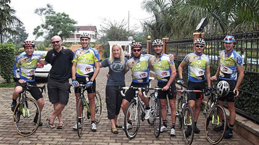 Team Type 1 which has donated to Rwandan diabates victims. The New Times / Courtesy.