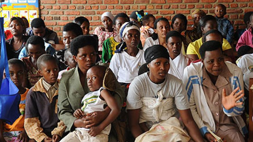 A new report by UNFPA says more women have access to  family planning methods. The New Times / File.