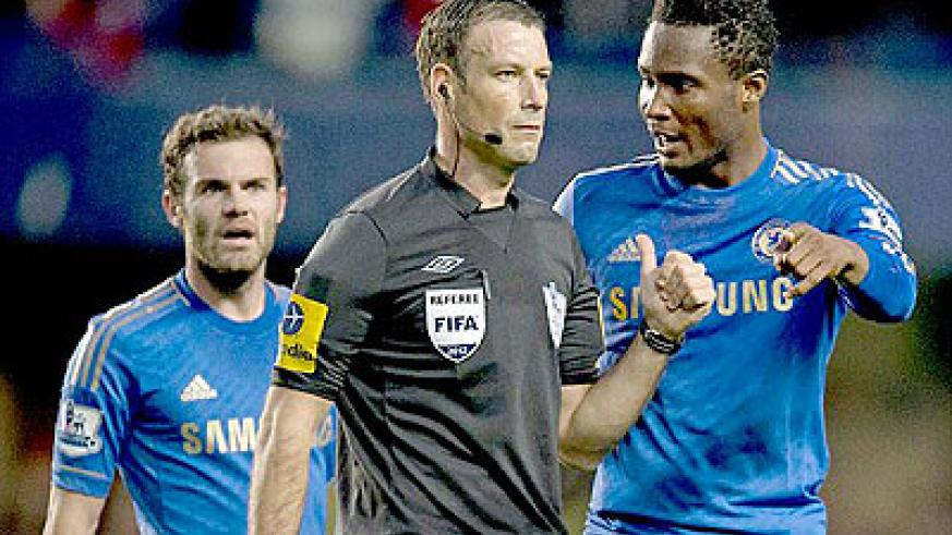 Mark Clattenburg has no case to answer while John Mikel Obi (right) has been charged by the FA. Net photo.