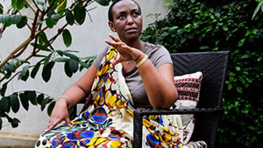 The late Inyumba during a past interview at her home in Kigali. The New Times / File.