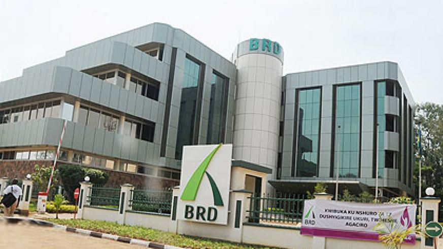The BRD head office in Kigali; INSET ‑The bank's Director of Operations Evode Nshimimana. The New Times / File