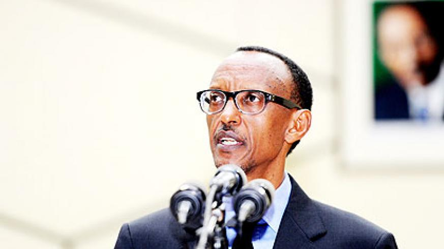 President Kagame delivering the State of the Nation address yesterday at Parliament. The New Times / Village Urugwiro.