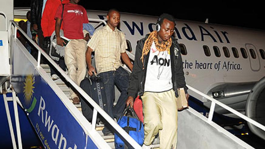 Rwandan students returning from Egypt in 2011. Many Rwandans abroad lack basic knowledge about the  culture of the host country. The New Times/ File.