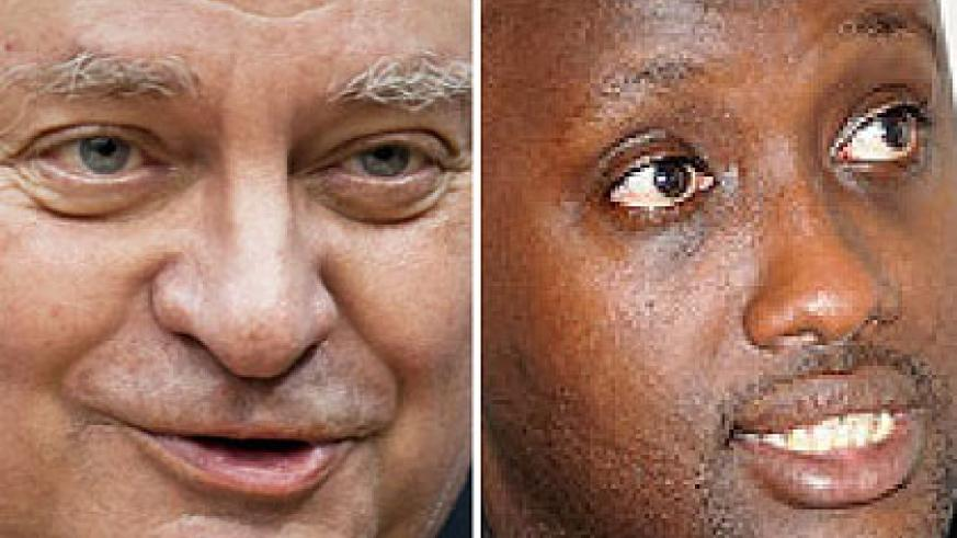 Ladous' proposal has met stiff resistance while Nduhungirehe (R) believes that more assessment needs to be carried out before drones are launched.  The New Times/ Net Photos