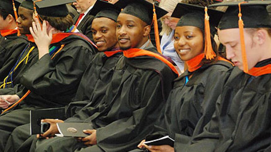 Some Rwandan graduands during a past ceremony at the Oklahoma State University in the  United States