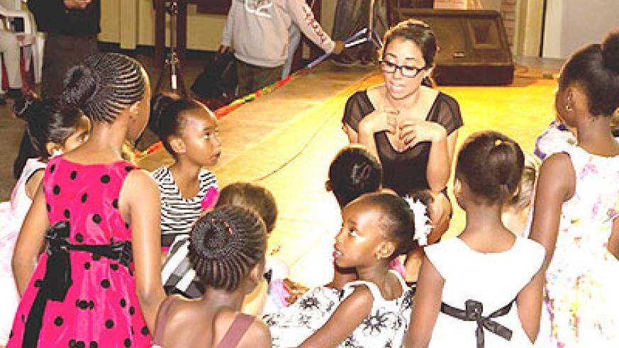 Peixoto  talks to her students at City Arts Centre at the weekend