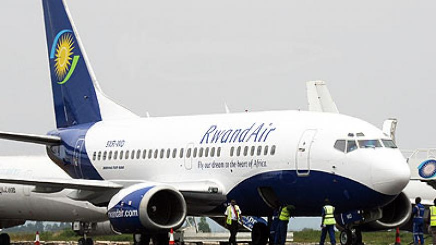 A fleet of RwandAir planes. The airline is one of those lined up for sale.