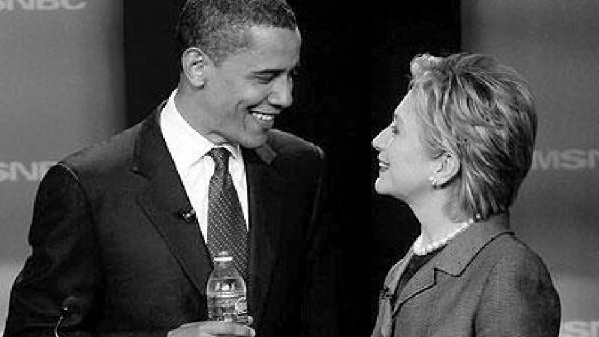 Obama and Clinton. Net photo.