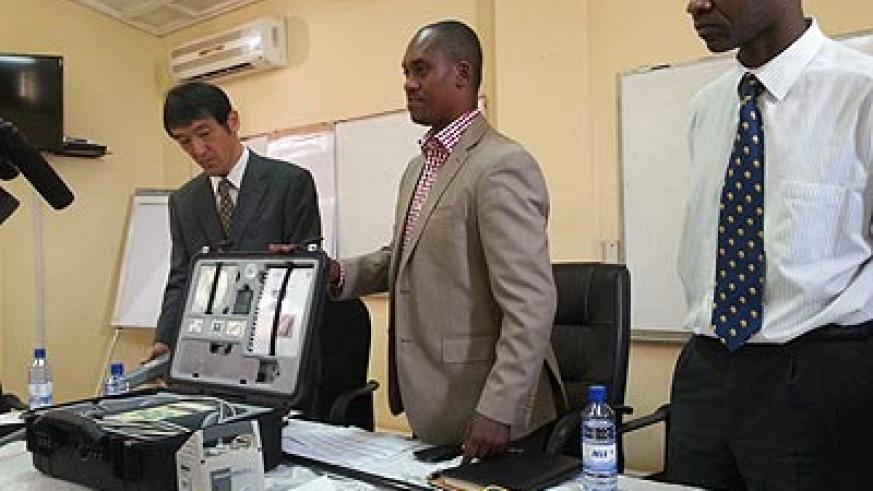"The Energy, Water and Sanitation Authority (EWSA), in conjunction with Japan International Cooperation Agency (JICA), is training 62 of its technicians in efficient leakage detection and leakage repairing to avoid water losses. According to the Deputy Director General of EWSA, James Sano, (C) those are the topmost shortcomings they are faced with as they lose close to 30 per cent of revenue through leaks and faulty meters. Kobayashi Hiroyuki (L) the JICA representative in Rwanda said they deemed fit not to retain the knowledge they had picked up from 'our cities'. ""We are willing to train more Rwandans if this is the outcome!"" Grace Gatera"