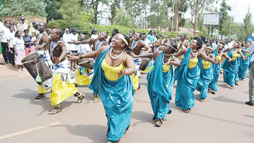 Rwandan dancers participated in Monday's Jamafest Grand Carnival. photo. The New Times / Courtesy .