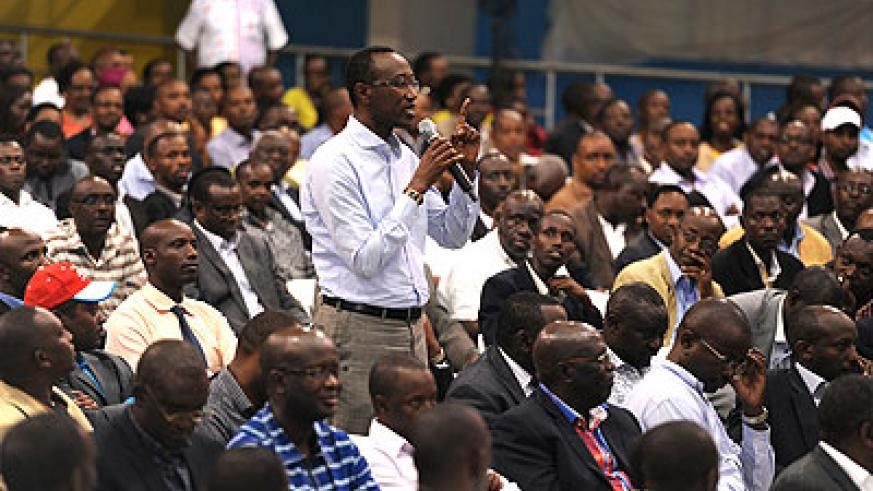 RPF cadres during thier meeting with President Kagame in Kigali on February 8 in Kigali. The New Times / File.