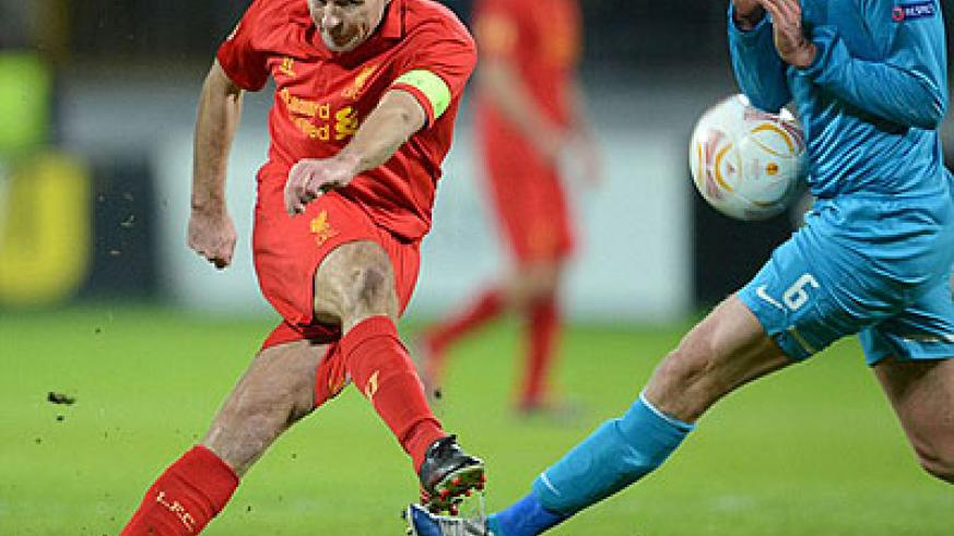 Steven Gerrard led a strong Liverpool side in Russia. Net photo.