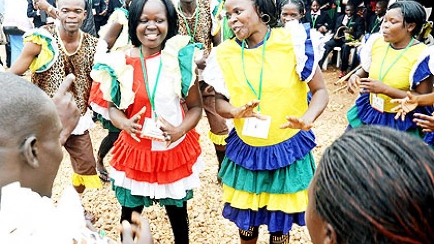 A Kenyan cultural troupe performs at the Jamafest exhibition last week. The New Times/  John Mbanda.