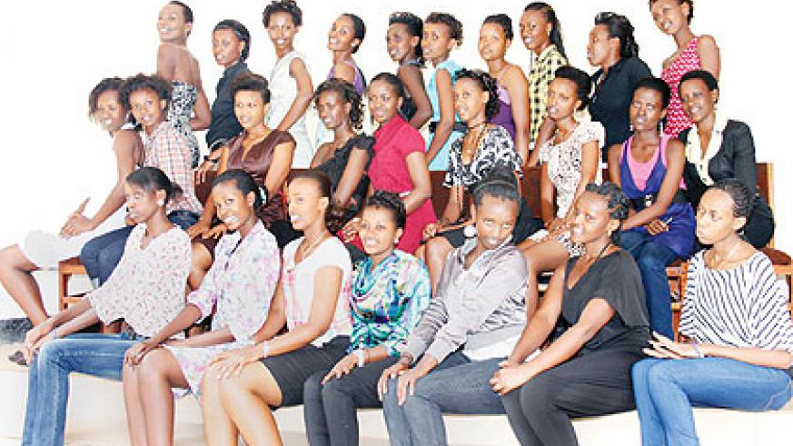 Contestants for the Miss Gender crown. The New Times / Courtesy.