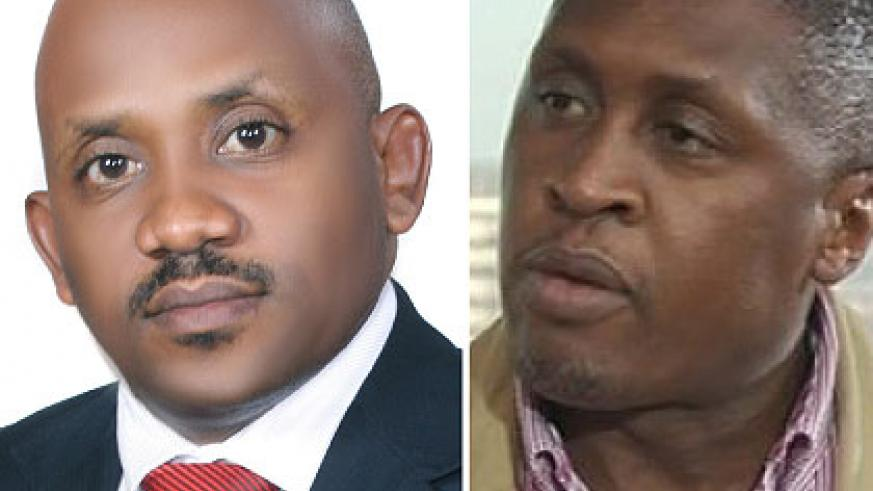 Sebabi (L) is the new EAX Cheif Operating Officer while Kukubo was appointed the Chief Executive Officer. Courtesy.