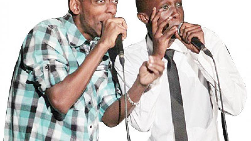 Comedians on stage. The New Times / file.
