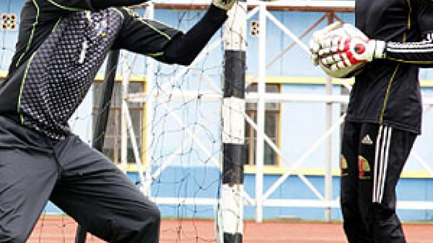 APR's goalkeeper Jean Luc Ndayishimiye (L) has been ruled of action for several months. The club will now rely on Jean Claude Ndoli (R). The New Times / File.