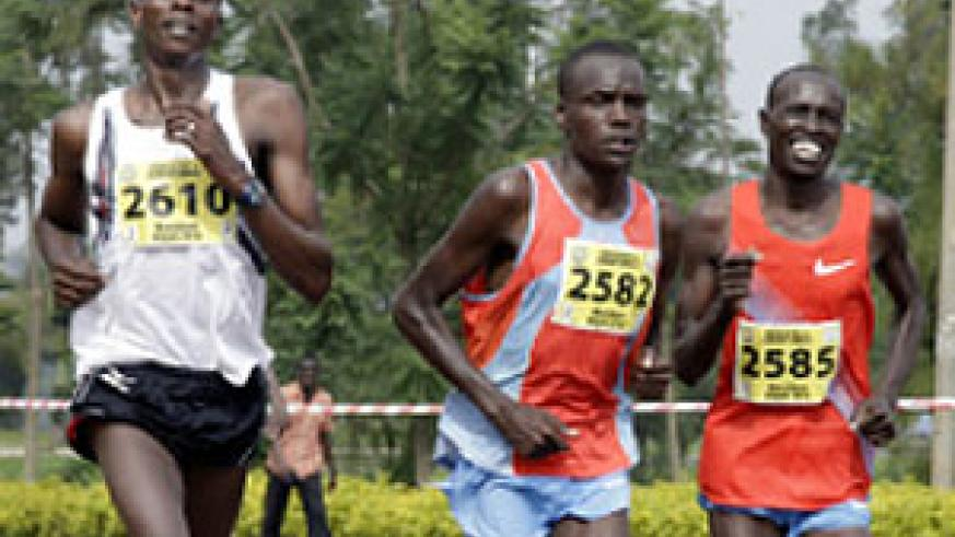 Athletes competing in a past Kigali Peace Marathon. Several Cross-country Athletes are undergoing training in Gicumbi, Northern Province. The New Times /  File.