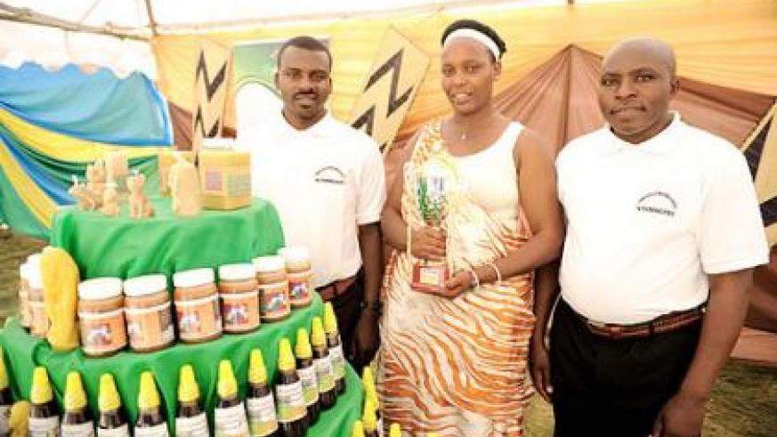 Nyamagabe farmers showcase their agricultural produce.