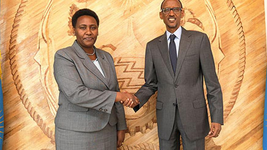 The outgoing Kenyan High Commissioner to Rwanda, Rose Makena Muchiri, yesterday paid a courtesy call on President Paul Kagame to bid him farewell after concluding a two and a half year....