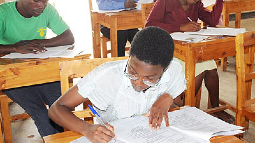 Student teachers during the examinations last year.  The New Times/ File.