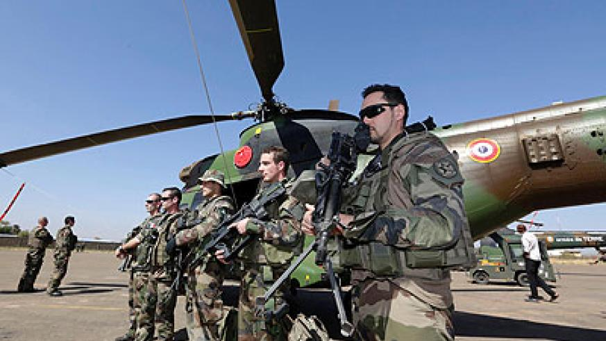 French troops in Mali; French President Francois Hollande has said his country's forces are engaged in the final phase of the fight. Net photo.