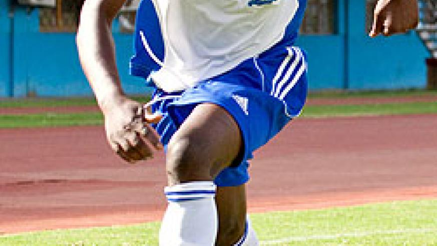 Striker Papy Kamanzi netted a second half hat-trick in a space of 20 minutes to help Rayon Sport to a 7-0 win over Rwamagana City. The New Times / File.