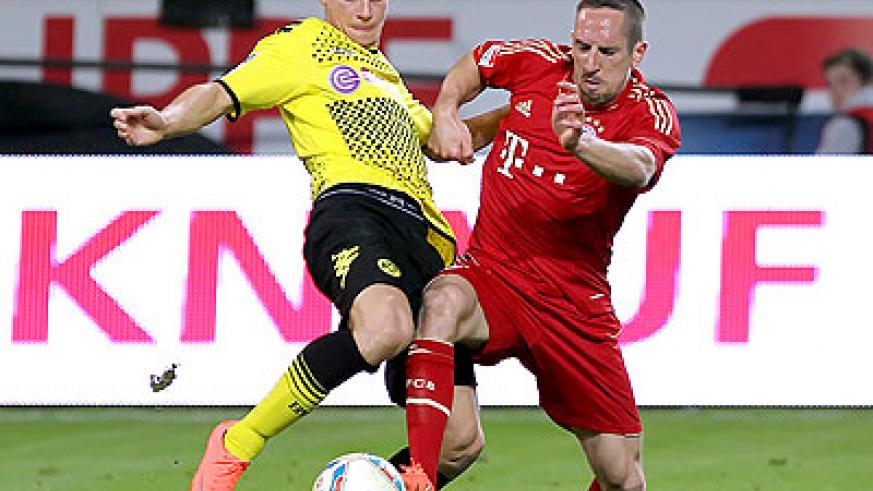 Borussia Dortmund and Bayern Munich meet in the first leg of the German Cup on Wednesday. Net photo.