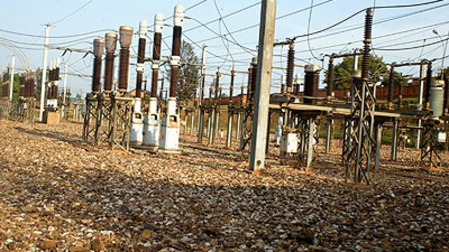 A power substation in Kigali. Three districts in Rwanda are experiencing elecricity outages.