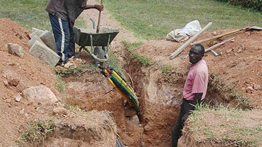 So far, $96 million has been spent on the fibre optic project countrywide. The New Times/ File.