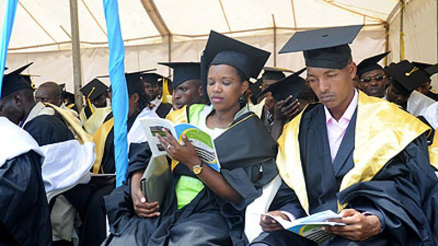 Kigali Institute of Education graduation ceremony 2012. The New Times / File.