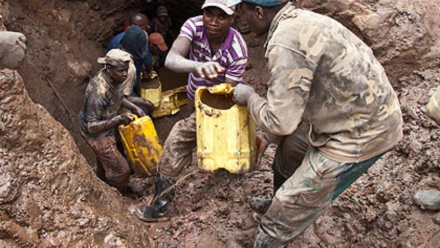 Coltan mining in Rutsiro. The new course will help Rwandans  take on more responsibilities in the sector.  The New Times/ Timothy Kisambira.