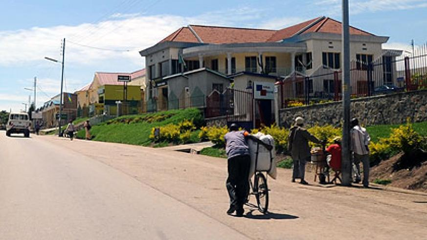 Ruhango town today boasts some modern buildings. The New Times/ Jean Pierre Bucyensenge.
