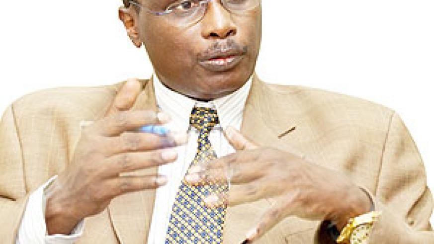 Dr Alex Butera during the interview. The New Times / Timothy Kisambira.